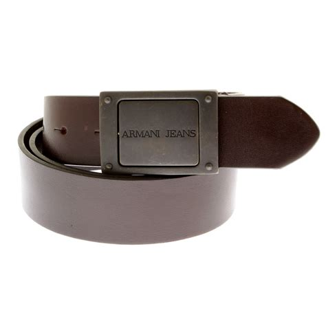 armani chocolate brown leather belt n610 312