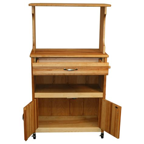 Microwave With Shelf by Catskill Microwave Cart Open Shelf Closed Cabinet