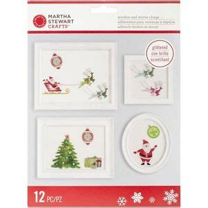 martha stewart merry and bright birds martha stewart crafts merry and bright santa glittered window and mirror clings 15586788242 ebay