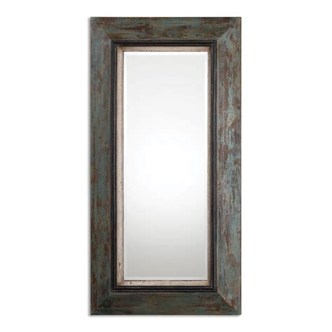 Distressed Farmhouse Floor Mirror For Sale - bronwen distressed rectangular leaner mirror uvu13930