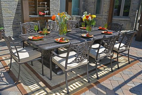 cast aluminum patio furniture sets serena luxury 8 person all welded cast aluminum patio