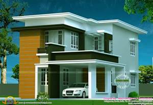 Flat Roof House Design by New Flat Roof House Kerala Home Design And Floor Plans