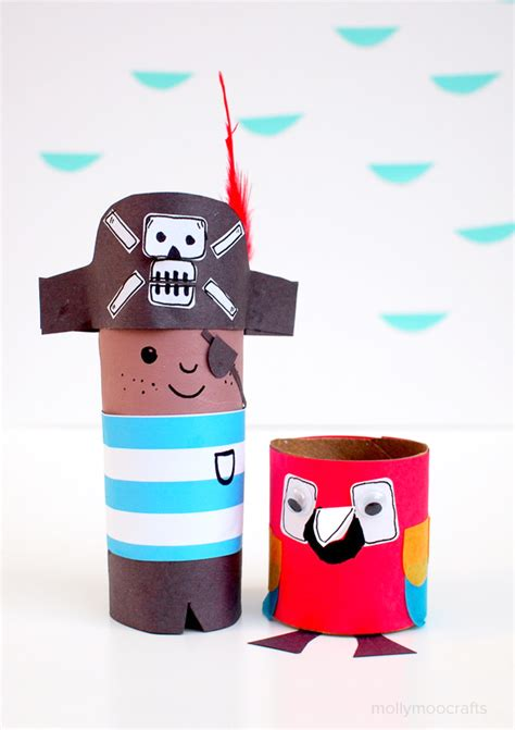 toilet roll crafts mollymoocrafts toilet roll crafts meet mr pirate and mr