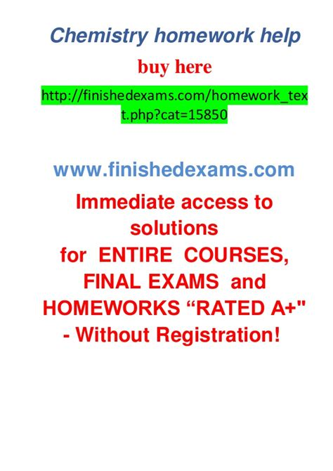 Homework Help In Chemistry chemistry homework help