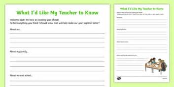 What You Should About Resources This Year 2 by Back To School What I D Like My To Worksheet