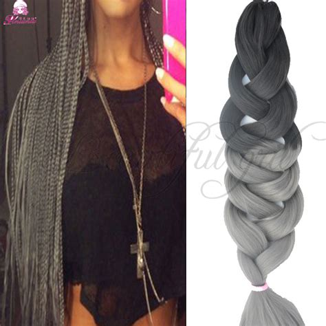 grey braiding extensions expression braiding hair expression grey synthetic