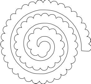 Rolled Paper Roses Template by Flower Shoppe Rolled 1 Paperthisandthat Svg Box