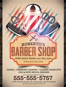 barber shop template free barber flyer templates studio design gallery