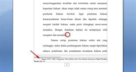 langkah membuat footnote 2 langkah mudah membuat catatan kaki di word 2007