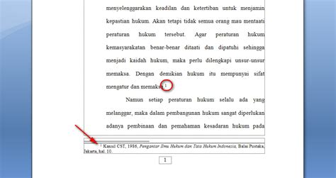 cara membuat catatan kaki di word 2013 2 langkah mudah membuat catatan kaki di word 2007