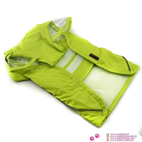 small raincoat bright green raincoat small dogs with velcro