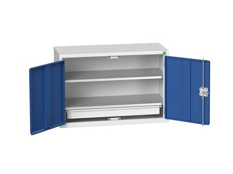 wall mounted tool cabinet nz buy wall mounted wide workshop cabinet with 2 shelves 1