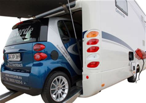 Rv With Smart Car Garage by Southdowns Motorhome News Concorde Smart Car Garage
