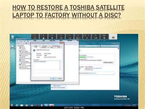factory reset toshiba laptop how to restore a toshiba satellite laptop to factory