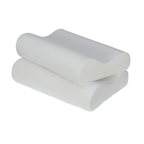 signature sleep contour king memory foam pillow in white
