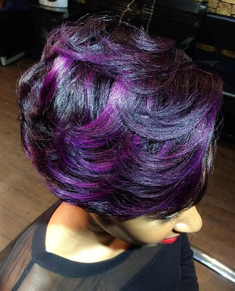 Purple And Black Hairstyles by 40 Versatile Ideas Of Purple Highlights For Brown