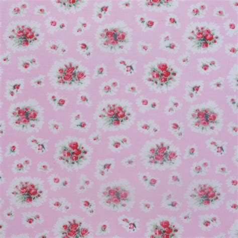 Pink Floral Upholstery Fabric by Fleur Pink Floral Fabric By The Metre Shop