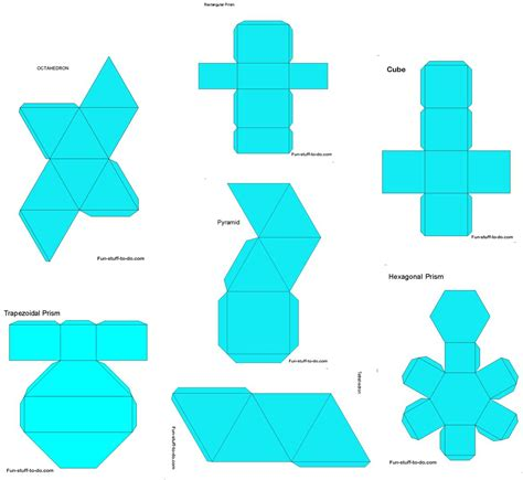 How To Make 3d Paper Shapes - 5 best images of make 3d shapes printable templates 3d