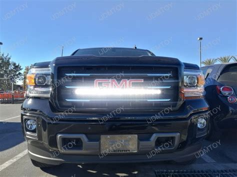 gmc light bar grill 2014 18 1500 2500 3500 hd grille 30 quot led