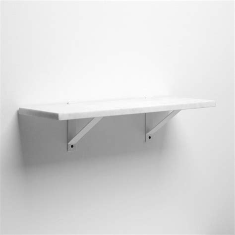 marble shelf white basic brackets traditional