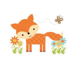 Childrens Wall Mural Stickers woodland fox mural wall decals forest animal friends