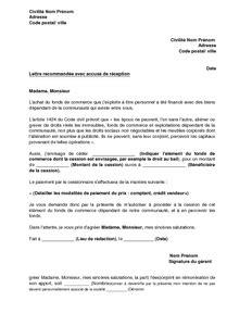 Modèle De Lettre Formelle En Français Exemple Gratuit De Lettre Demande Accord Conjoint Cession 233 L 233 Ments Fonds Commerce