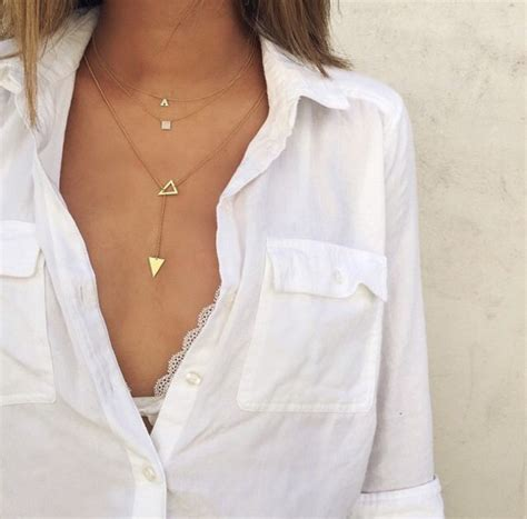 White Song Shirt jewels necklace necklace gold gold jewelry shirt