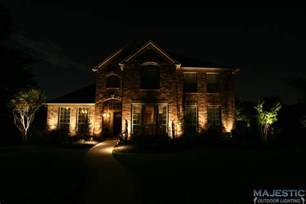Commercial Led Landscape Lighting - fort worth tx amp dallas tx home exterior lighting gallery
