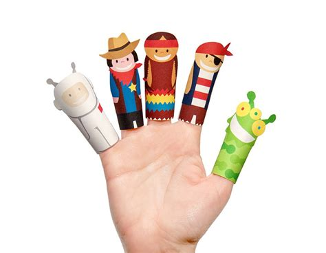 Finger Puppets With Paper - fantastic heroes paper finger puppets printable pdf pukaca