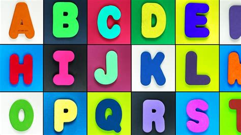 colorful letters abc song for children learn the alphabets with colorful