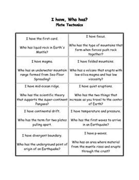 Plate Tectonics Worksheets For Middle School by 17 Best Ideas About Plate Tectonics On