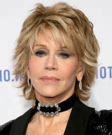 medium layered hairstyle for 60 choppy look for mature fashionistas jane fonda haircut