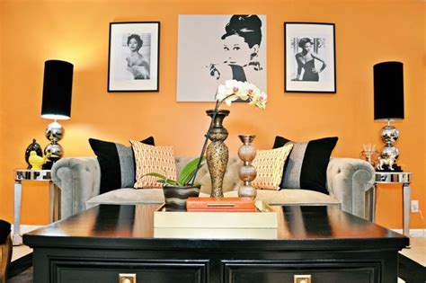 vintage glam living  dining room eclectic living