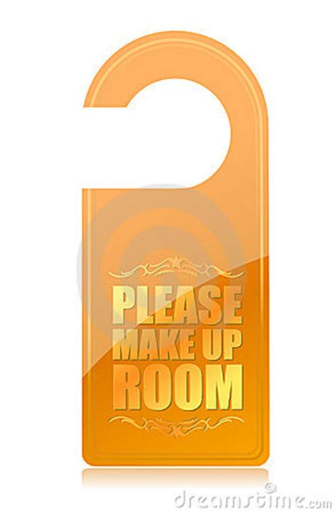 make my room make up room hotel sign royalty free stock photo