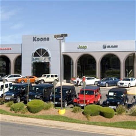 Koons Chrysler Jeep Koons Tysons Chrysler Dodge Jeep Ram Tysons Corner