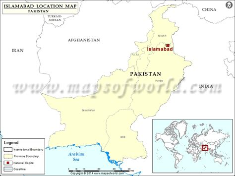 where is islamabad location of islamabad in pakistan map