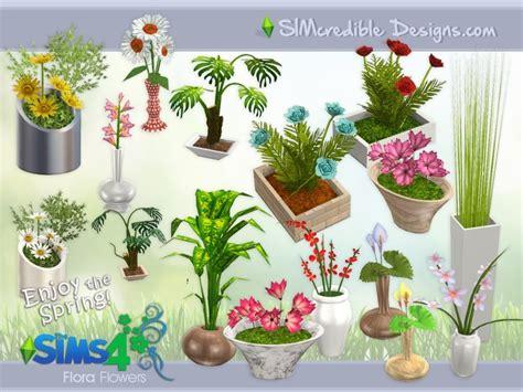Set Flower 4 simcredible s flora plants