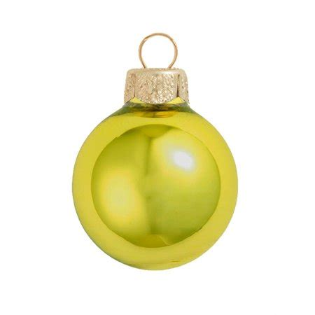 yellow soft christmas gift 28ct matte soft yellow glass ornaments 2 quot 50mm walmart
