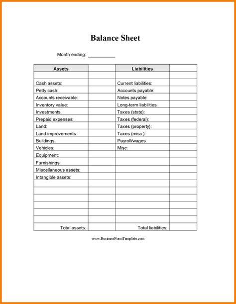 Blank Balance Sheet Template Authorization Letter Pdf Free Printable Balance Sheet Template