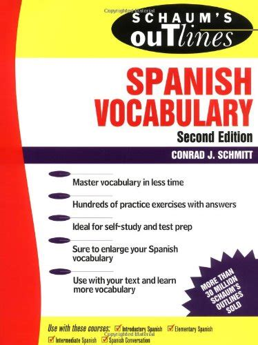 libro schaums outline of spanish spanish vocabulary online images frompo 1