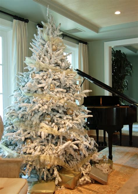 20 best flocked christmas trees images on pinterest