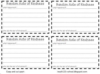 Random Acts Of Kindness Cards Templates by Act Of Kindness Clipart 51