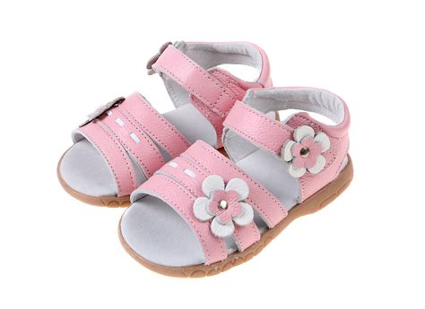 baby soft leather shoes the sandal white pink velcro
