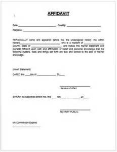 General Affidavit Template by Affidavit Form Microsoft Word Templates Affidavit