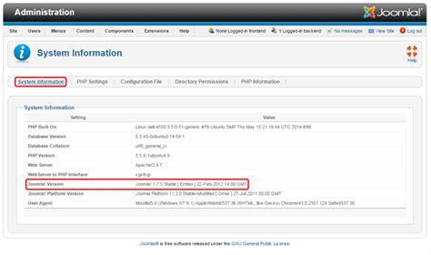 How To Check The Joomla Version Joomla Documentation Joomla Database Template