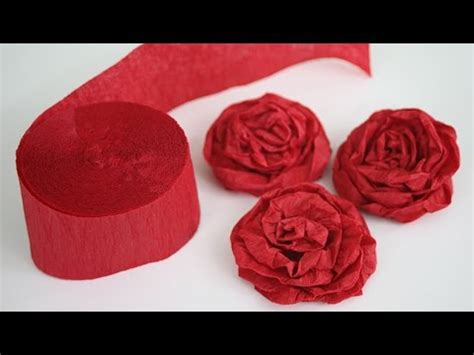 Roses Out Of Paper - how to make twisted crepe paper roses
