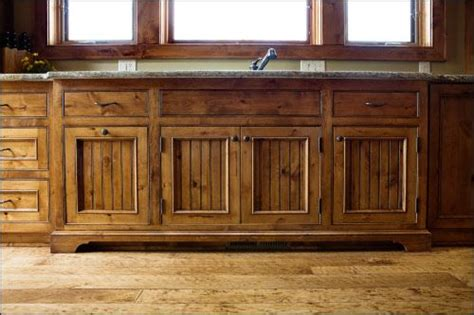 Beadboard Cabinet Door Inserts - knotty alder with custom bead board cabinet doors