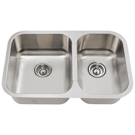 Mr Direct Undermount Stainless Steel 28 In Double Basin Kitchen Sinks Stainless Steel Undermount