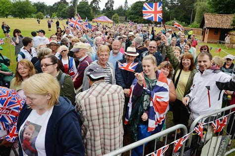 church fans near me princess charlotte s christening huge crowds gather to