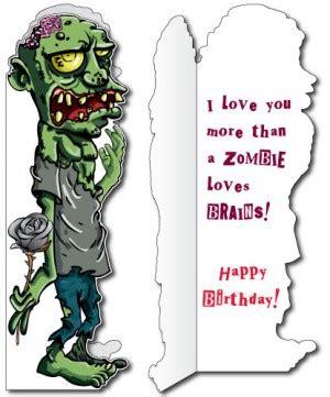 printable zombie birthday cards zombie birthday quotes quotesgram